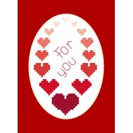 ZU 8588 Cross stitch kit - Greeting card - For you