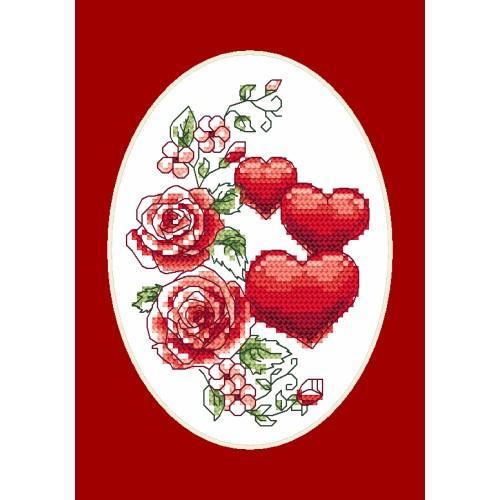 Cross stitch kit - Greeting card - Best wishes