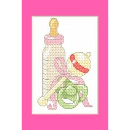 Cross stitch kit - Birth Day card - Birth of the daughter