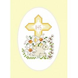 Cross stitch kit - Easter card - Lamb