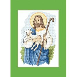 Cross stitch kit - Easter card - Christ