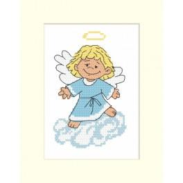 Cross stitch kit - Card with an angel
