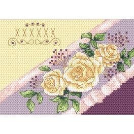 Cross stitch kit - Card - Invitation - Roses