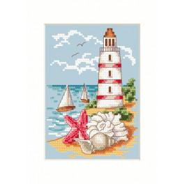 Cross stitch kit - Card - Lighthouse