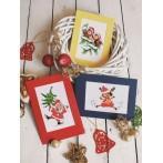 Cross stitch kit - Card - Christmas birds