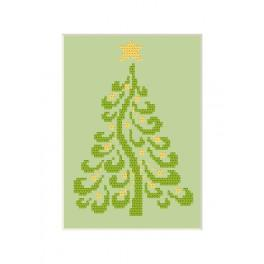 Cross stitch kit - Christmas postcard - Christmas tree