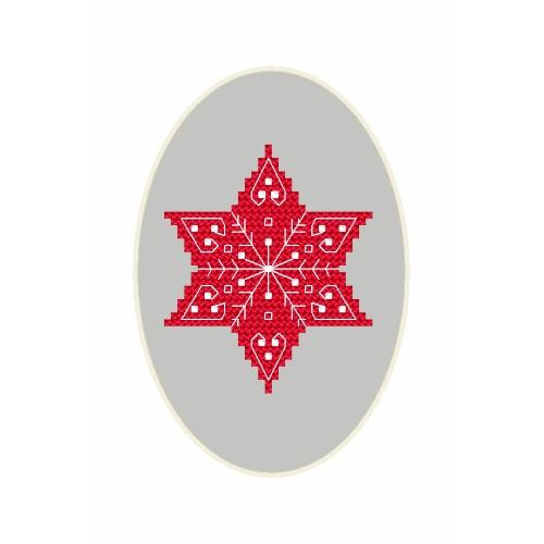 ZU 8666 Cross stitch kit - Christmas postcard - A little star