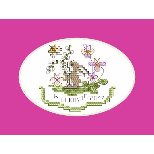 Cross stitch kit - Easter card - Bunny