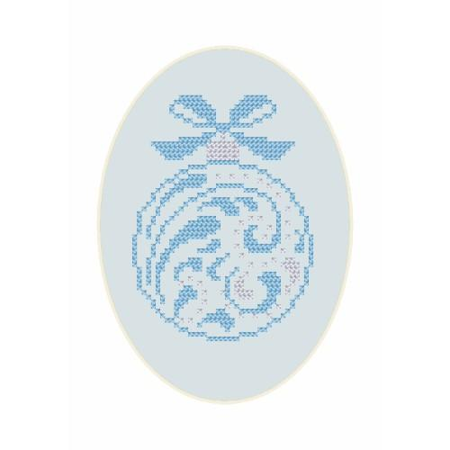 ZU 8658 Cross stitch kit - Christmas postcard - Christmas ball