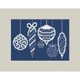 Cross stitch kit and beads