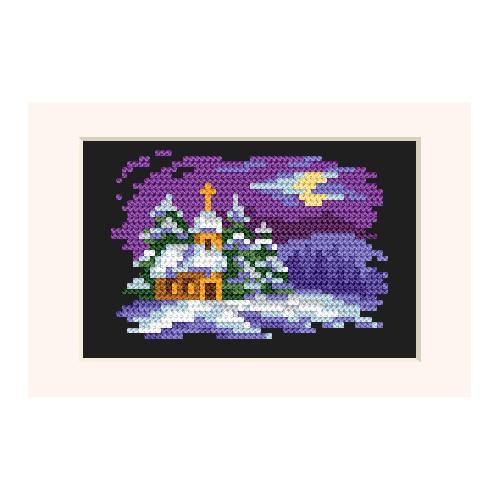 Cross stitch kit - Christmas card - In the moonlight