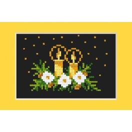Cross stitch kit - Christmas card - Golden brightness