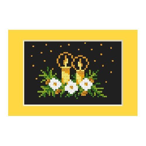 Cross stitch kit - Christmas card - Golden brightness