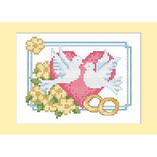 Cross stitch kit - Card - Doves