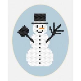ZU 8449 Cross stitch kit - Card - Snowman