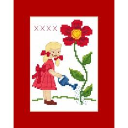 Cross stitch kit - Card - For Grandma
