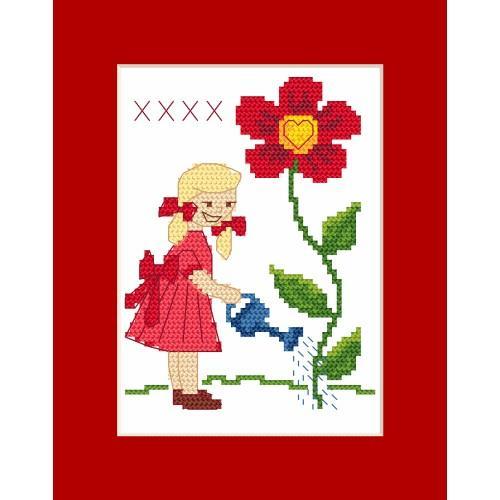 ZU 8506 Cross stitch kit - Card - For Grandma