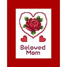 ZU 8473 Cross stitch kit - Card - Mother's Day