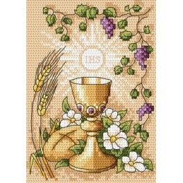 Cross stitch kit - Holy communion card