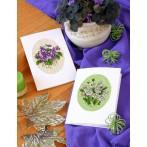 Cross stitch kit - Greeting card - Violets