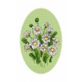 ZU 4864-01 Cross stitch kit - Greeting card - Daisies