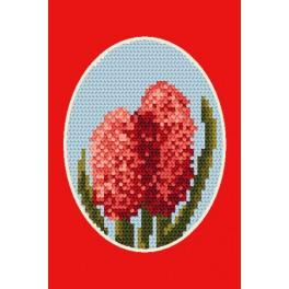 Cross stitch kit - Greeting card - Hyacinth