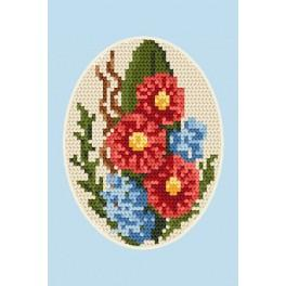 Cross stitch kit - Greeting card - Flowers