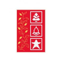 Cross stitch kit - Christmas card