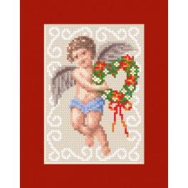 Cross stitch kit - Christmas card - Angel card