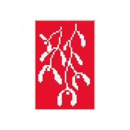 Cross stitch kit - Christmas card - Mistletoe