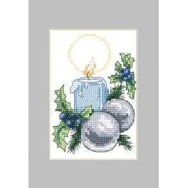 Cross stitch kit - Christmas card - Candle