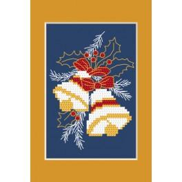 Cross stitch kit - Christmas card - Christmas bells