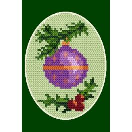 Cross stitch kit - Christmas card - Christmas ball