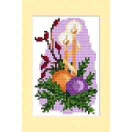 Cross stitch kit - Christmas card - Christmas decoration