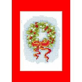 Cross stitch kit - Christmas card - Wreath
