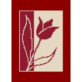 ZU 8422 Cross stitch kit - Birthday card - Tullip