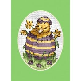 Cross stitch kit - Easter card - Chick