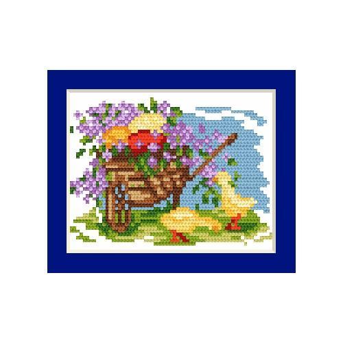 Cross stitch kit - Easter card - Easter eggs