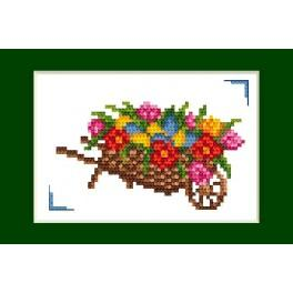 Cross stitch kit - Easter card - Easter