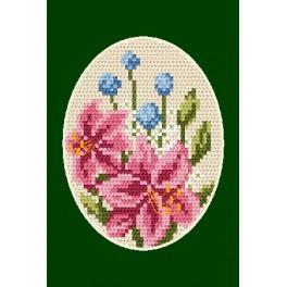 ZU 4804-01 Cross stitch kit - Greeting card - Lillies