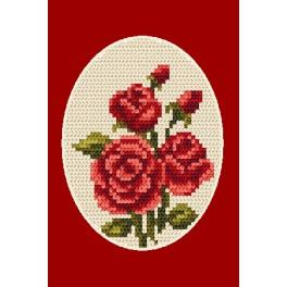 Cross stitch kit - Greeting card - Roses