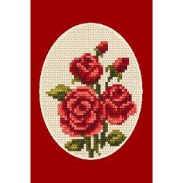 ZU 4804-02 Cross stitch kit - Greeting card - Roses