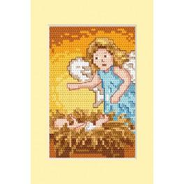 Cross stitch kit - Christmas card - Birth
