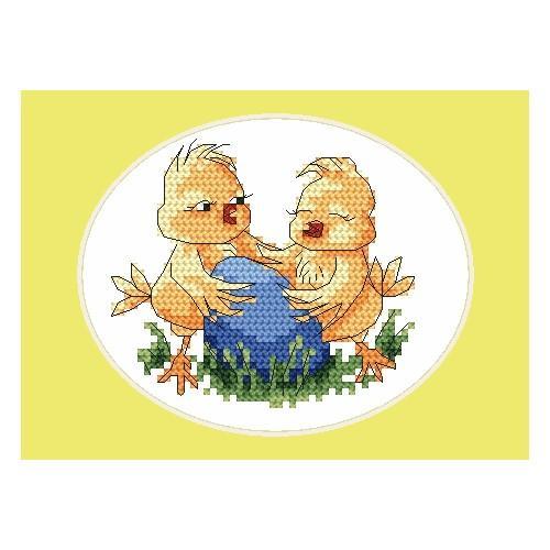 Cross stitch kit - Easter card - Chicks