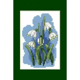 Cross stitch kit - Easter card - Spring Snowflake