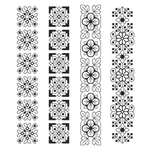 Cross stitch kit - Bookmarks - Crafted ornaments I