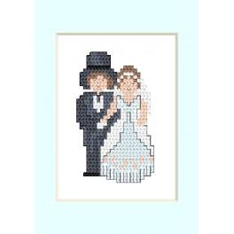 ZU 2104 Cross stitch kit - Wedding card - Newly-married couple