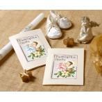 ZU 4425-02 Cross stitch kit - Card - Rememberance of baptism - Boy