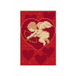 Cross stitch kit - Card - Valentine's day - Amor