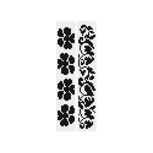Cross stitch kit - Bookmarks - Plant compositions
